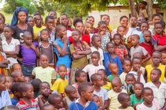 Barn i Tanzania Arkivbild
