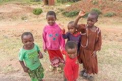 Barn i Tanzania Arkivfoto