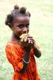 Barn i vanuatiskt royaltyfri bild
