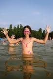 Barn i vatten Royaltyfria Bilder