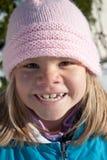 Barn i vinter Fotografering för Bildbyråer