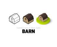 Barn icon in different style Royalty Free Stock Photos
