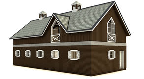 Barn isolated royalty free stock photography