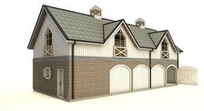 Barn isolated stock photo