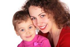 barn isolerad moder Fotografering för Bildbyråer