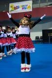 Barn konkurrerar i SpringCup den internationella danskonkurrensen Royaltyfria Bilder