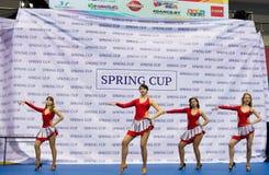 Barn konkurrerar i SpringCup den internationella danskonkurrensen Arkivfoto