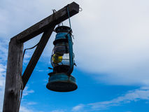 Barn lantern. And blue sky Stock Images