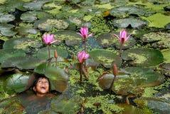 barn lantliga india Fotografering för Bildbyråer