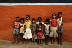 barn lantliga india Arkivfoton