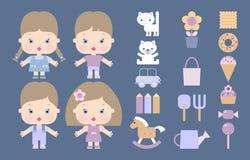 Barn leksaker, sötsaker vektor illustrationer
