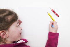 Barn ler Royaltyfria Bilder