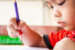 Barn målar Royaltyfri Foto
