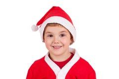 Barn med den Santa hatten royaltyfri bild