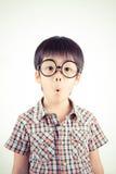 Barn med förvånat uttryck Arkivfoto