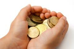 Barn med fickpengar Arkivbild