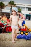 Barn med leksaker Fotografering för Bildbyråer