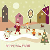 Barn med Santa Claus vektor illustrationer