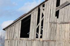 Barn, Missing Boards Royalty Free Stock Image