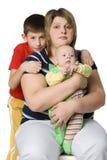 barn mother två royaltyfria foton