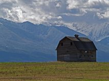 Barn and Mountains Royalty Free Stock Image