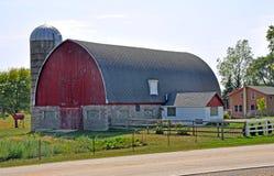 Barn near Madison, Wisconsin. Traditional red barn on family farm in Wisconsin Royalty Free Stock Photo