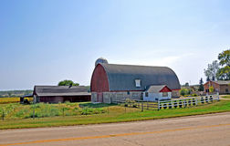 Barn near Madison, Wisconsin. Traditional red barn on family farm in Wisconsin Royalty Free Stock Photography