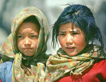 barn nepal royaltyfri fotografi