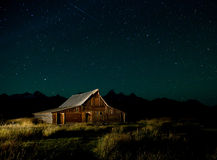 Barn and nigh sky Stock Photo