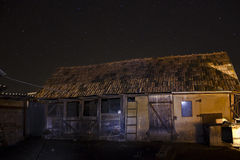 Barn and night sky Royalty Free Stock Photo