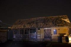 Barn and night sky Royalty Free Stock Photo