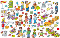 Barn och djurflygplats stock illustrationer
