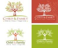 Barn och familj Arkivbilder