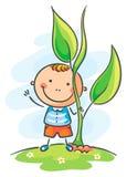Barn och jätte- grodd vektor illustrationer