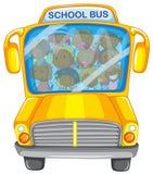 Barn och skolbuss Fotografering för Bildbyråer