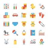 Barn- och ungesymbolsuppsättning stock illustrationer