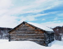 Barn. An old hay barn in Swedish mountains Stock Photography