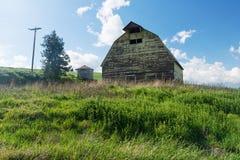 Barn. Old barn and wheat field, Colfax, Washington stock photo