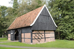 Barn in the Open Air Museum in Ootmarsum. Stock Images