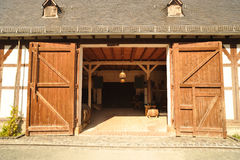 Barn with open doors Royalty Free Stock Photos