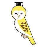 Barn owl graduation cap vector designs vector Stock Image