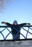 Barn på bron Fotografering för Bildbyråer