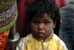 Barn på Coalmineområdet royaltyfria bilder