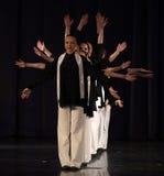 Barn på den judiska dansen för etapp Arkivbild