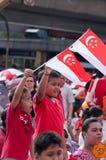 Barn på den nationella dagen Royaltyfri Fotografi