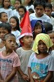 Barn på jul royaltyfri fotografi