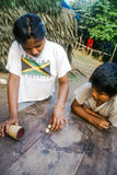 Barn på Mashaquipe i Bolivia Arkivbilder
