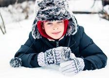 Barn på snowen Royaltyfri Foto