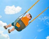 Barn på swing Royaltyfri Fotografi