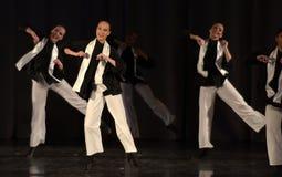 Barn på den judiska dansen för etapp Fotografering för Bildbyråer
